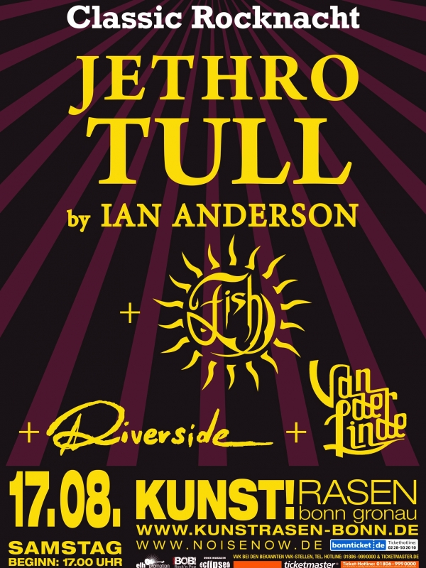 Classic Rock Night with Jethro Tull in Bonn 17th August
